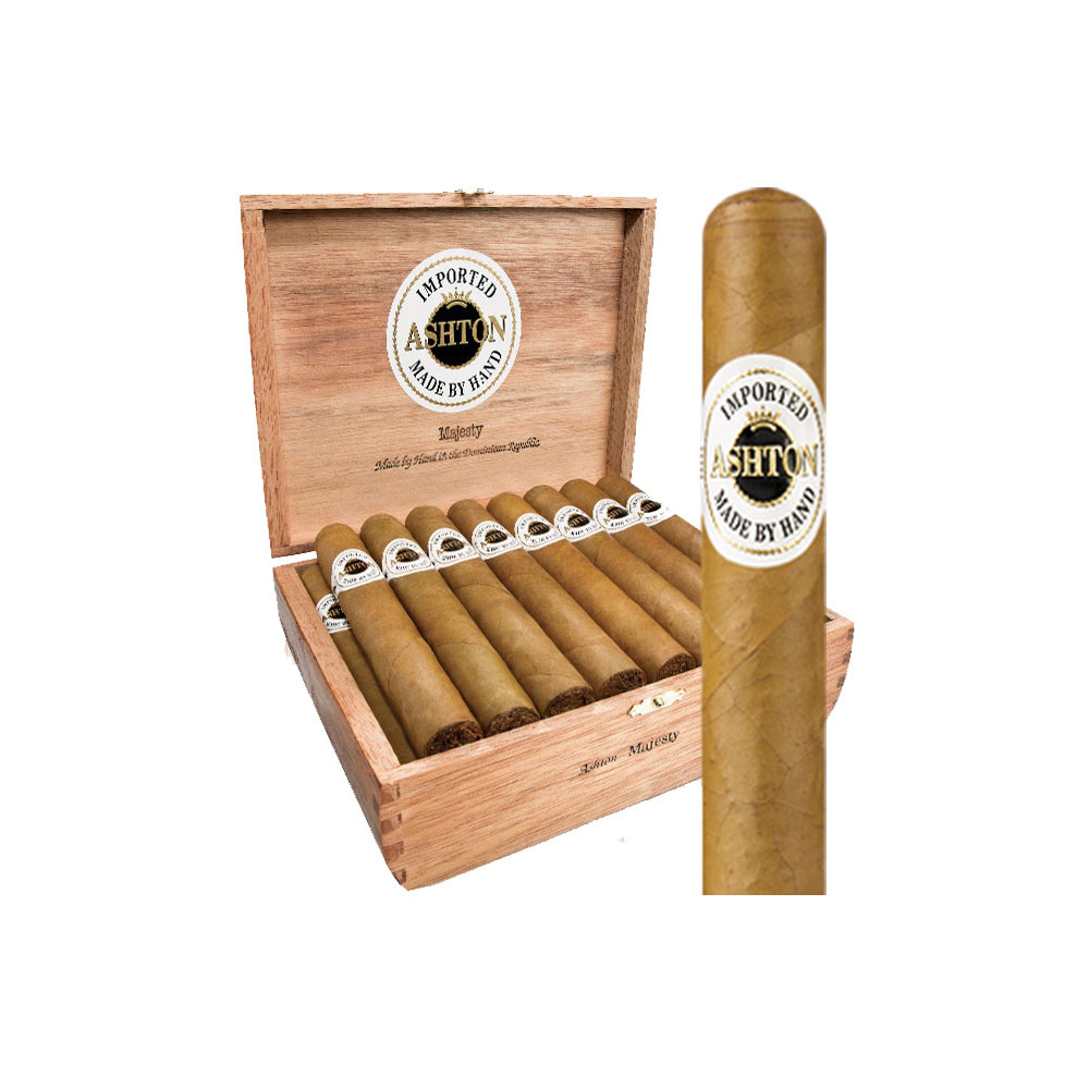 Ashton Classic Double Magnum Cigars - Natural Box of 25