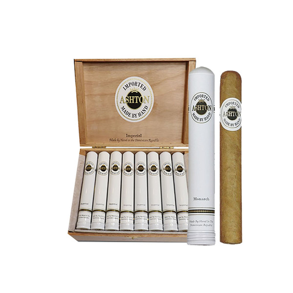 Ashton Classic Monarch Tubo Cigars - Natural Box of 24