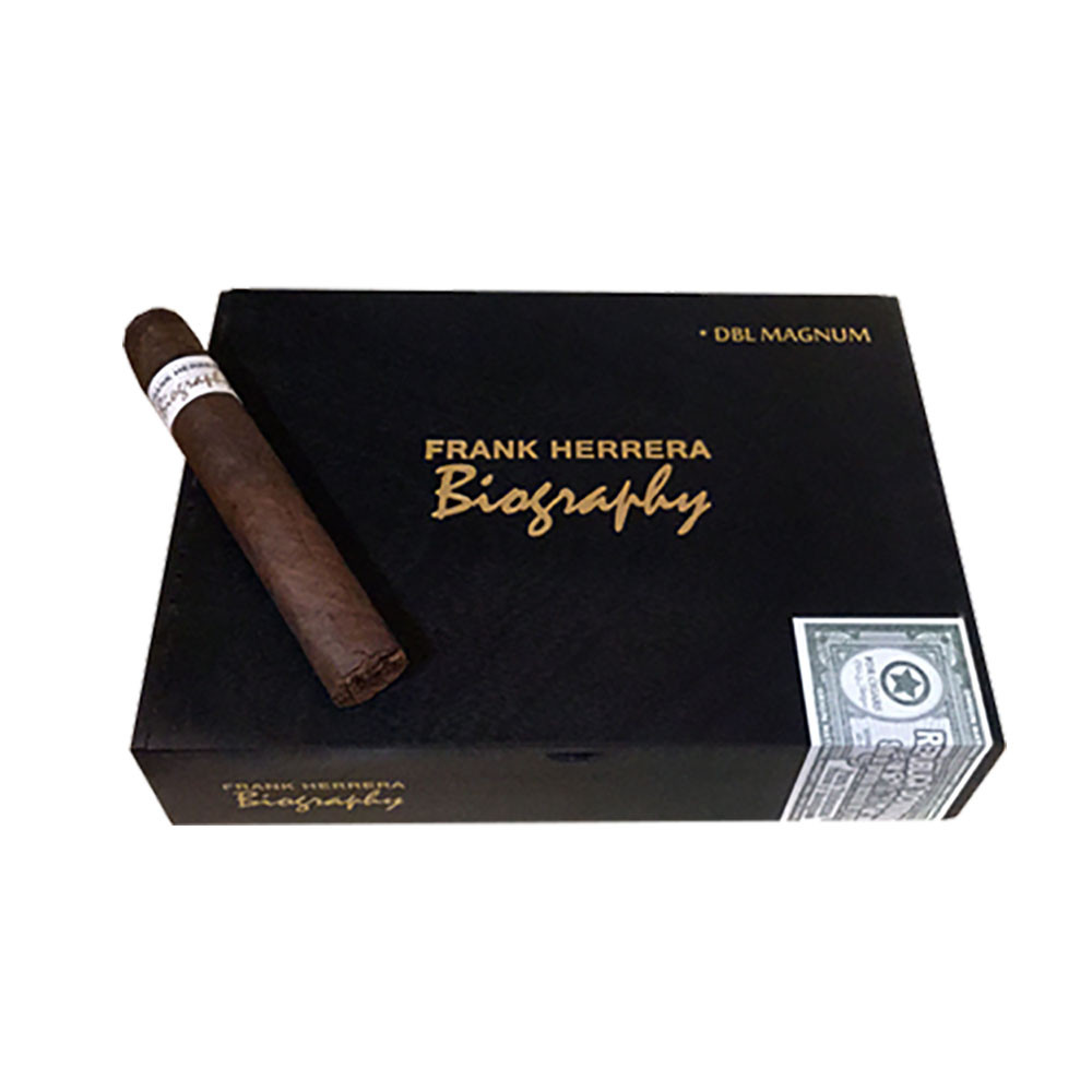 Frank Herrera's Biography Double Magnum Cigars - Natural Box of 20