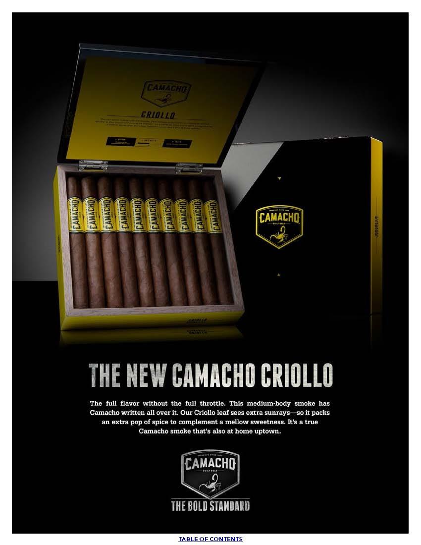 Camacho Criollo Robusto Tubo Cigars - Box of 20