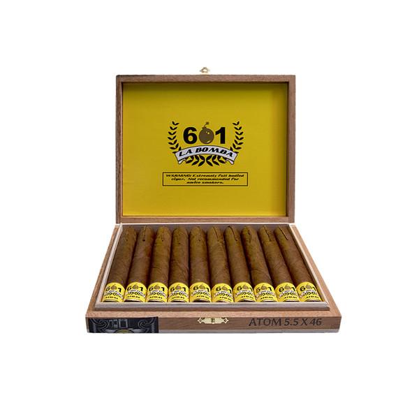 601 La Bomba Atomic Cigars - Natural Box of 10