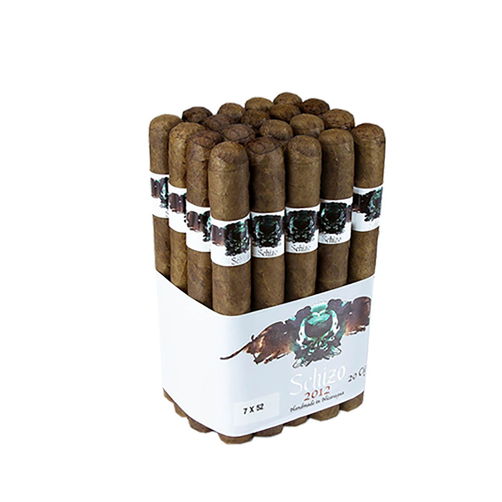 Asylum Schizo Double Toro Cigars - Natural Bundle of 20