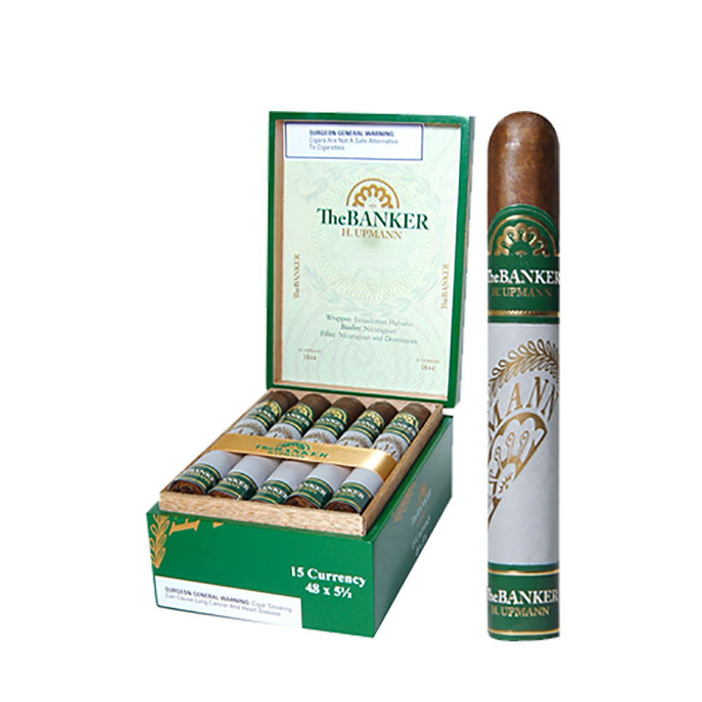H Upmann The Banker Currency Cigars - Natural Box of 15
