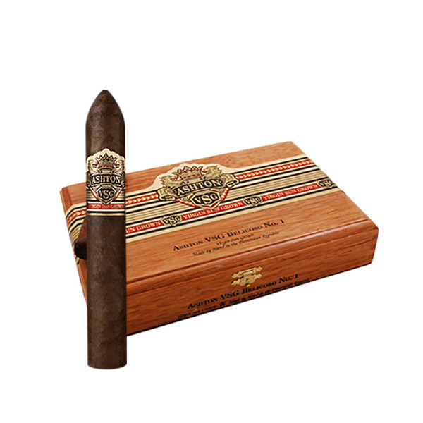Ashton VSG Belicoso #1 Cigars - Natural Box of 24