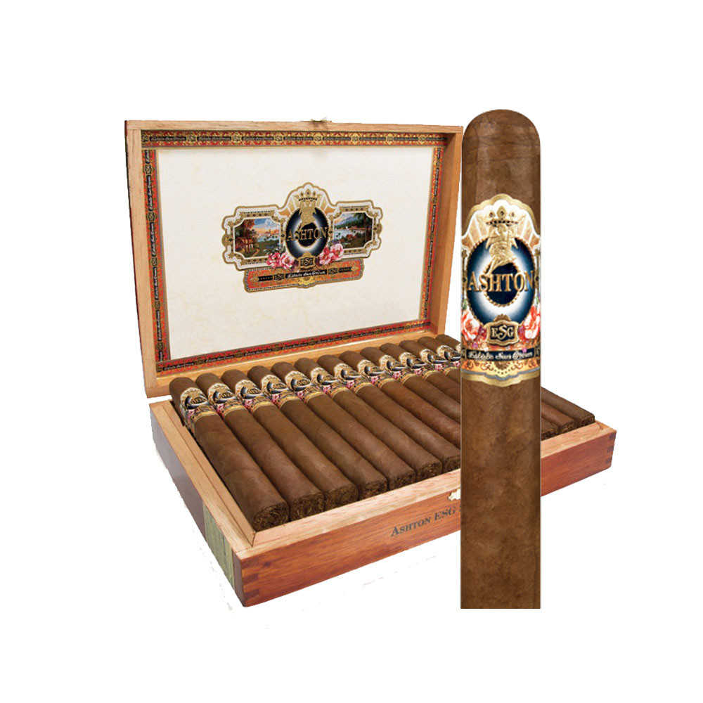 Ashton Estate Sun Grown 21 Year Salute Cigars - Natural Box of 25