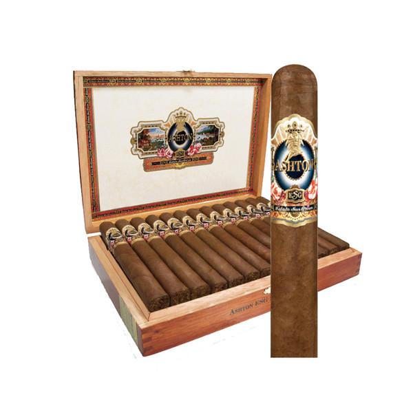 Ashton Estate Sun Grown 22 Year Salute Cigars - Natural Box of 25