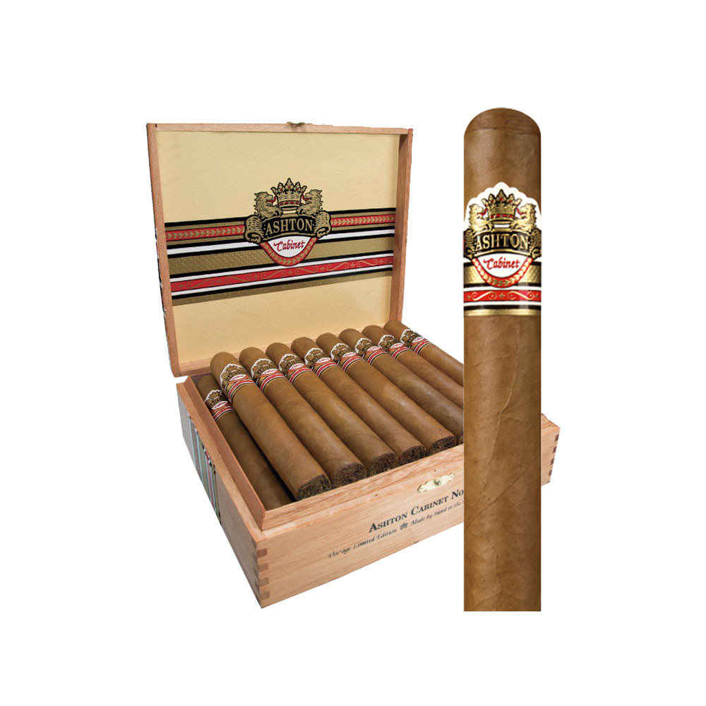 Ashton Cabinet Selection Belicoso Cigars - Natural Box of 25
