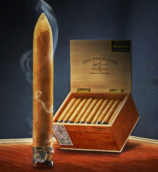 Shop Now Rocky Patel The Edge Lite Connecticut Battalion Cigars - Natural Box of 20 --> Singles at $8.25, 5 Packs at $37.54, Boxes at $135.3