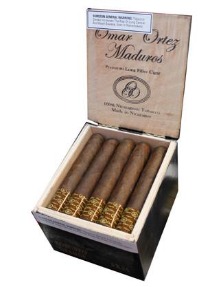 Shop Now Omar Ortez Maduro Toro Cigars - Maduro Box of 20 --> Singles at $4.30, 5 Packs at $18.92, Boxes at $68.8