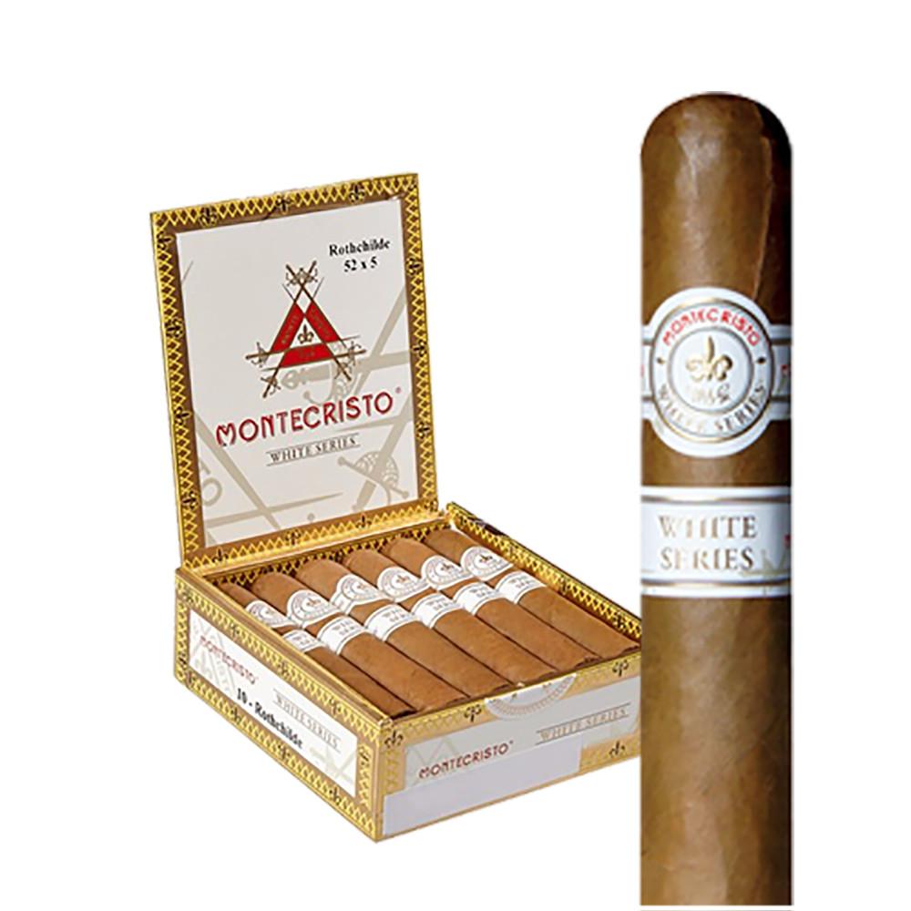 Montecristo White Rothchilde Cigars - Natural Box of 10