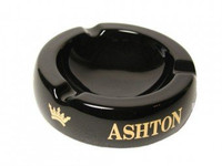 Ashton Black Ceramic Ashtray Small - Holds 3 Cigars