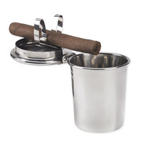Stinky Cigar Car Ashtray - Stainless Steel