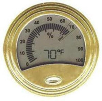 Don Salvatore Digital and Analog Hygrometer Gold
