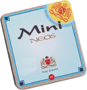 Shop Now Neos Minis Cigarillos 10/10 - Natural Pack of 100 --> Singles at $6.50, 5 Packs at $32.99, Boxes at $54.5