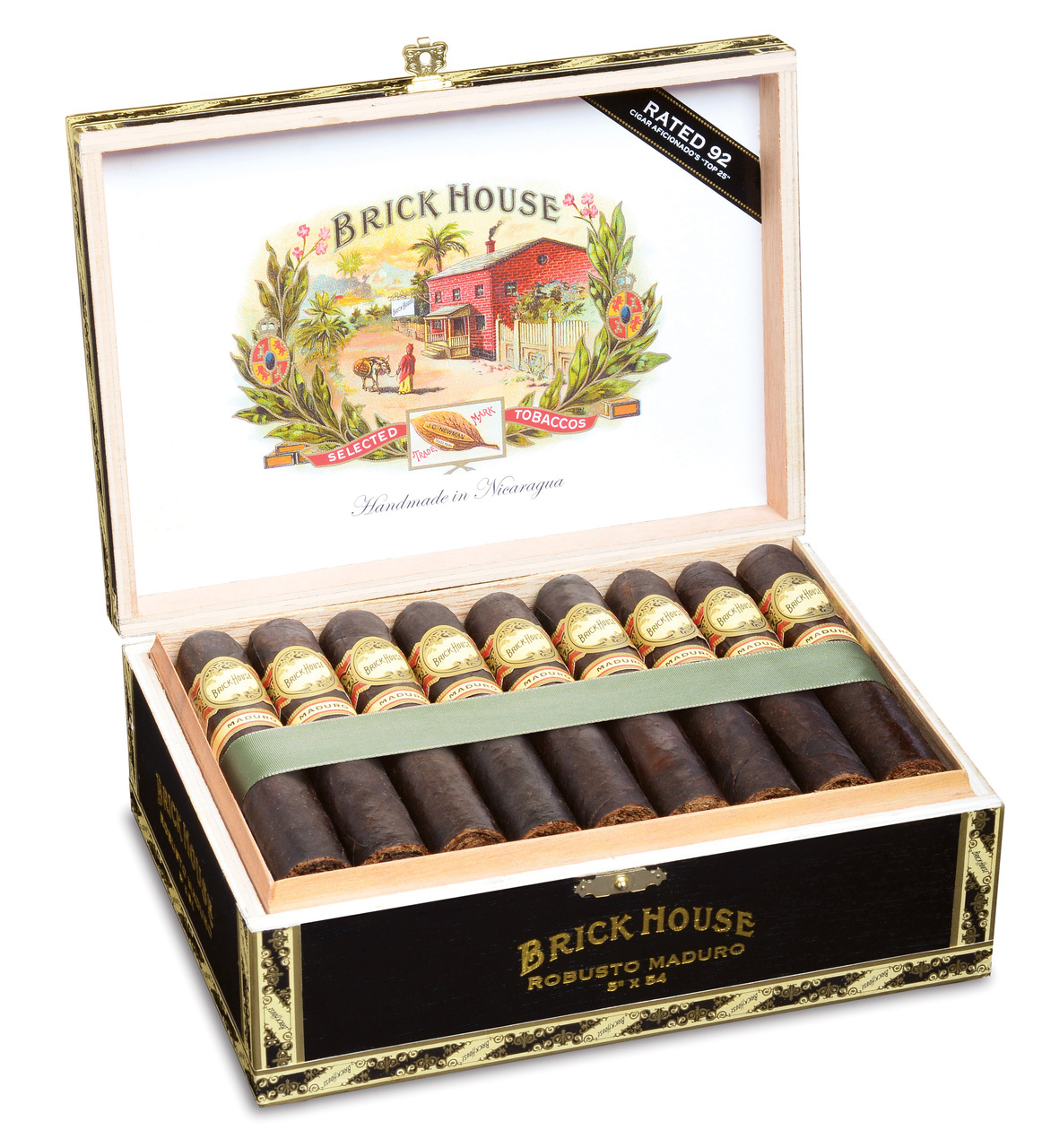 Brick House Robusto Cigars - Maduro Box of 25