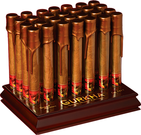 Shop Now Gurkha Grand Reserve Churchill Cigars - Natural Box of 30 --> Singles at $22.39, 5 Packs at $71.99, Boxes at $294.99