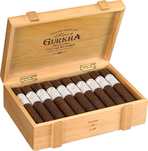 Shop Now Gurkha Cellar Reserve Kraken XO Cigars - Criollo Box of 20 --> Singles at $13.79, 5 Packs at $66.99, Boxes at $248.99