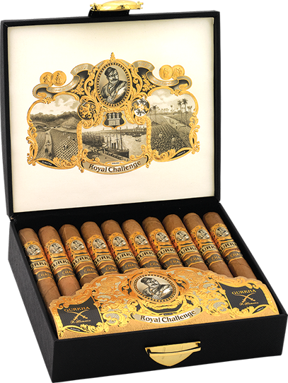 Shop Now Gurkha Royal Challenge Robusto Cigars - Natural Box of 20 --> Singles at $6.38, 5 Packs at $30.99, Boxes at $115.99