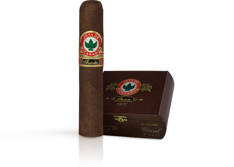 Shop Now Joya de Nicaraguan Antano 1970 Grand Consul Cigars - Criollo Box of 20 --> Singles at $8.64, 5 Packs at $41.99, Boxes at $127.99
