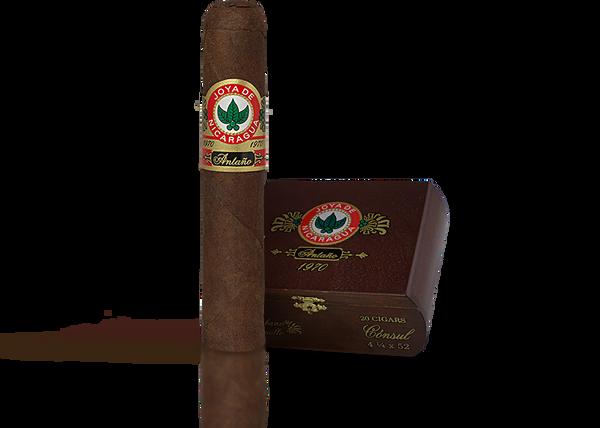 Shop Now Joya de Nicaraguan Antano 1970 Grand Perfecto Cigars - Criollo Box of 20 --> Singles at $11.20, 5 Packs at $53.99, Boxes at $165.99