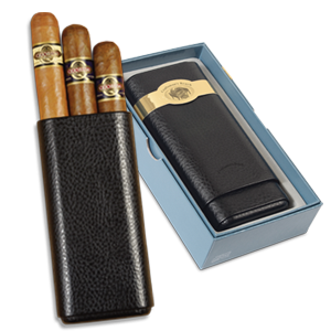 Quorum Leather Gift Set - Pack of 3 Cigars