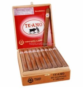 Shop Now Te Amo Toro Natural Cigars - Box of 25 --> Singles at $5.64, 5 Packs at $27.99, Boxes at $113.95