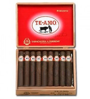 Shop Now Te Amo Robusto Cigars - Maduro Box of 25 --> Singles at $5.52, 5 Packs at $26.99, Boxes at $110.95