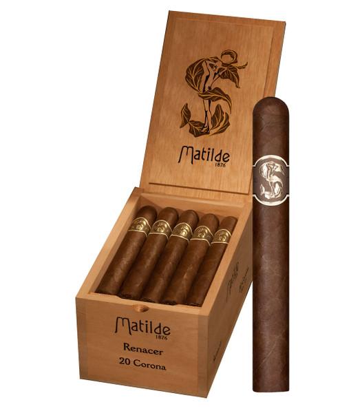 Shop Now Matilde Renacer Corona Cigars - Box of 20 --> Singles at $7.50, 5 Packs at $36.99, Boxes at $150