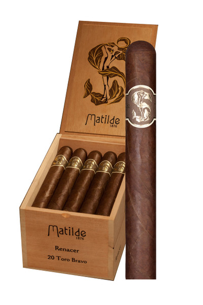 Shop Now Matilde Renacer Toro Bravo Cigars - Box of 20 --> Singles at $8.50, 5 Packs at $40.99, Boxes at $170