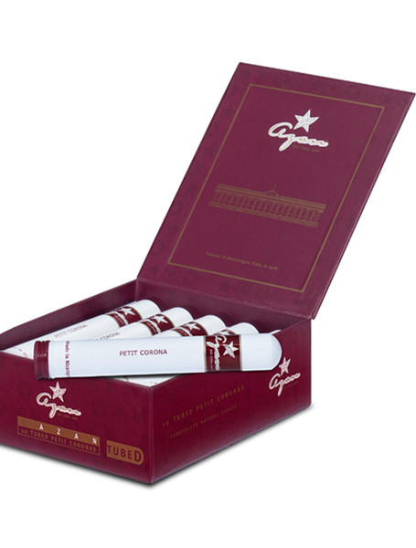 Shop Now Azan Burgundy Line Robusto Tubo Cigars - Corojo Natural Box of 10 --> Singles at $5.00, 5 Packs at $23.75, Boxes at $45.99
