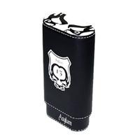 Asylum 13 Super Size Leather Cigar Case - White and Black