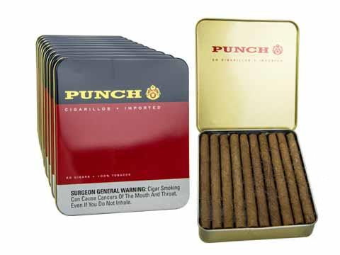 Punch Cigarillos Cigars - Natural 10 tins of 20