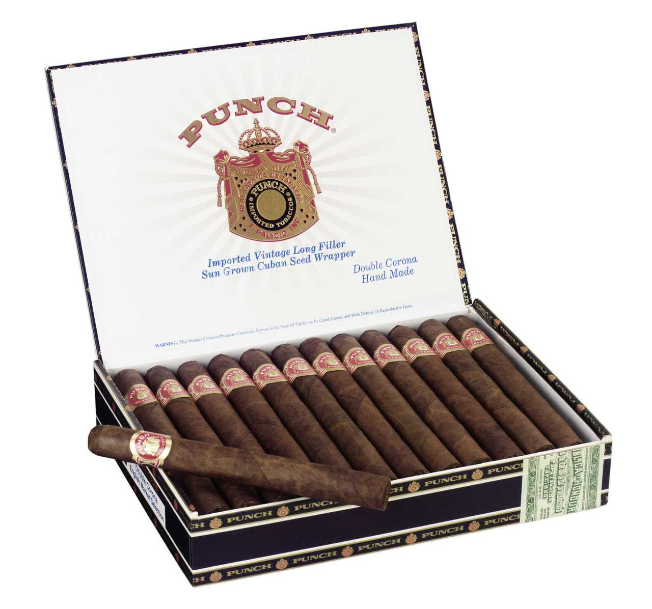 Shop Now Punch Double Corona Cigars - Maduro Box of 25 --> Singles at $7.62, 5 Packs at $32.99, Boxes at $117.99