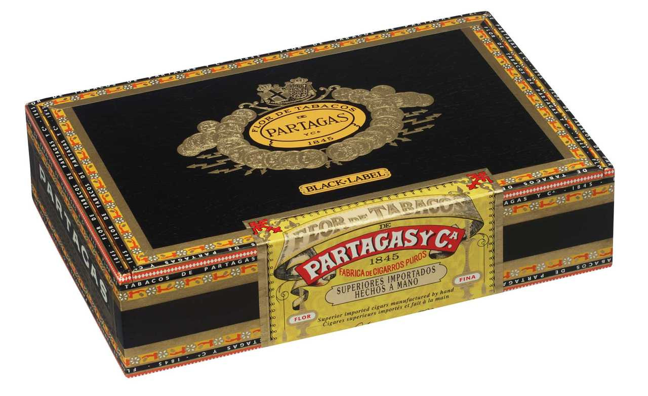 Shop Now Partagas Black Label Clasico Cigars - Maduro Box of 20 --> Singles at $8.50, 5 Packs at $36.99, Boxes at $100.99