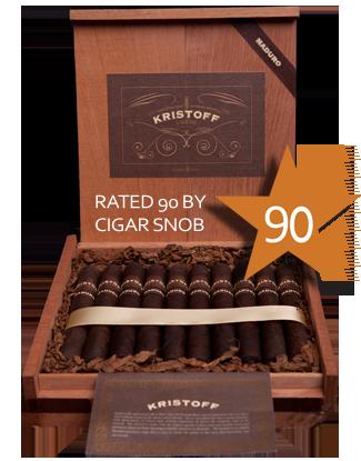 Shop Now Kristoff Ligero Maduro Churchill Cigars - Maduro Box of 20 --> Singles at $9.00, 5 Packs at $38.99, Boxes at $160.99