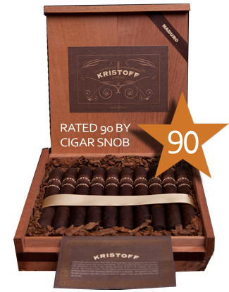 Shop Now Kristoff Ligero Maduro Short Robusto Cigars - Maduro Box of 20 --> Singles at $7.50, 5 Packs at $32.99, Boxes at $134.99