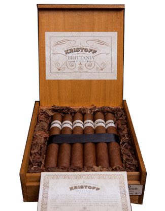 Shop Now Kristoff Brittania Reserva Robusto Cigars - Natural Box of 20 --> Singles at $7.50, 5 Packs at $32.99, Boxes at $132.99