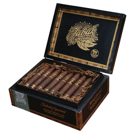 Shop Now Tabak Especial Corona Negra Cigars - Dark Box of 24 --> Singles at $7.40, 5 Packs at $28.50, Boxes at $124.5