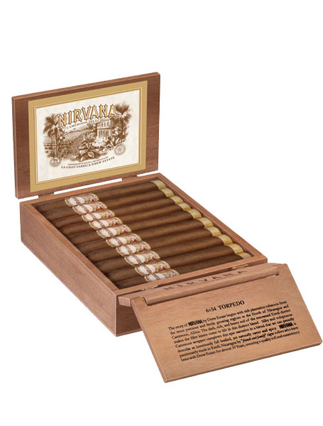 Nirvana Cameroon Selection Torpedo Cigars - Natural Box of 20