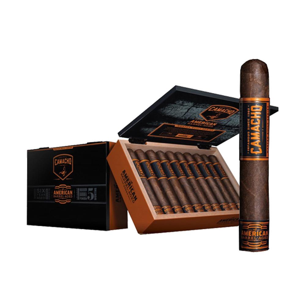 Camacho American Barrel Aged Toro Cigars - Dark Box of 20