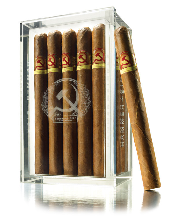 Hammer & Sickle Tradicion Series Connecticut Robusto Cigars - Natural Box of 20