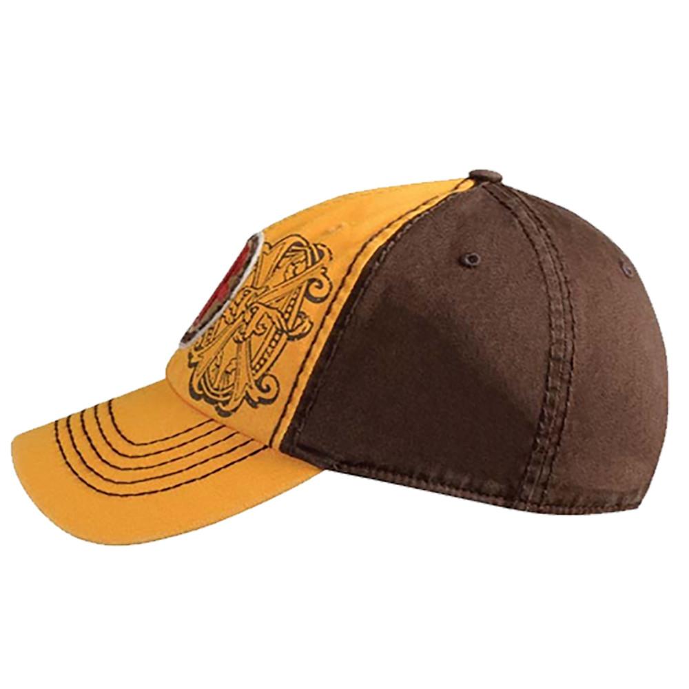 Arturo Fuente AF Opus X Logo Baseball Hat - Gold and Brown SIDE