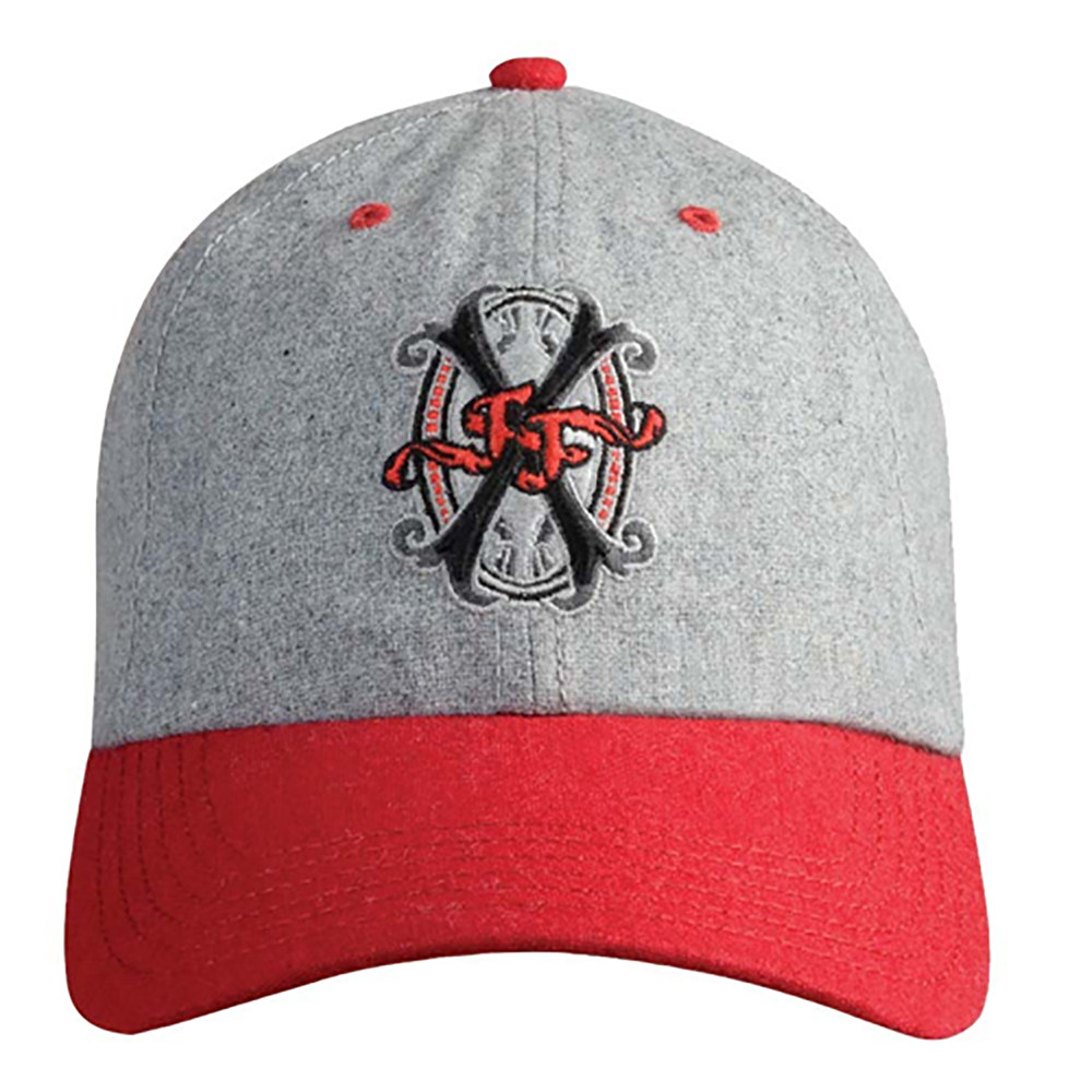 Arturo Fuente Opus X Logo Baseball Hat - Flannel Gray and Red