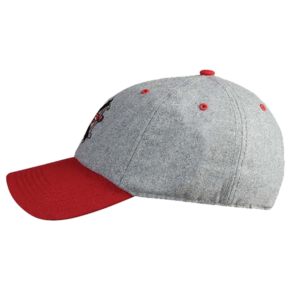 Arturo Fuente Opus X Logo Baseball Hat - Flannel Gray and Red SIDE
