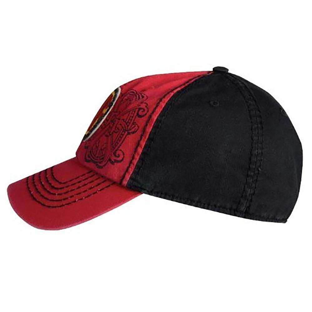 Arturo Fuente AF Opus X Logo Baseball Hat - Red and Black SIDE