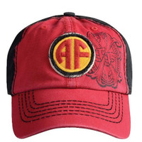 Arturo Fuente AF Opus X Logo Baseball Hat - Red and Black