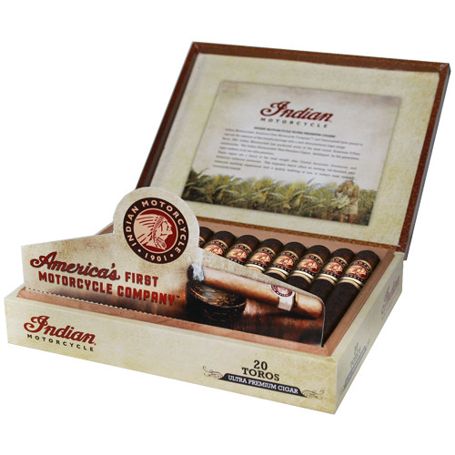 Indian Motorcycle Churchill Cigars - Maduro Box of 20