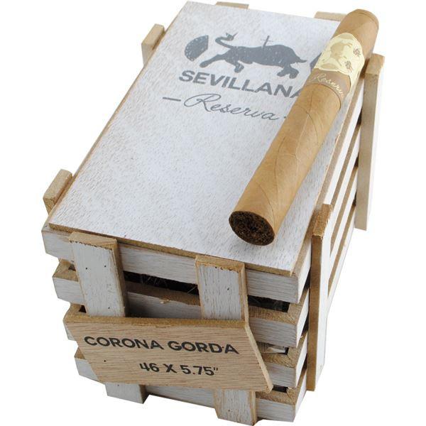 Caldwell Iberian Express Sevillana Reserva Corona Gorda Cigars - Natural Box of 25