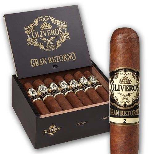 Oliveros Gran Retorno Habano Fiddle Cigars - Natural Box of 20