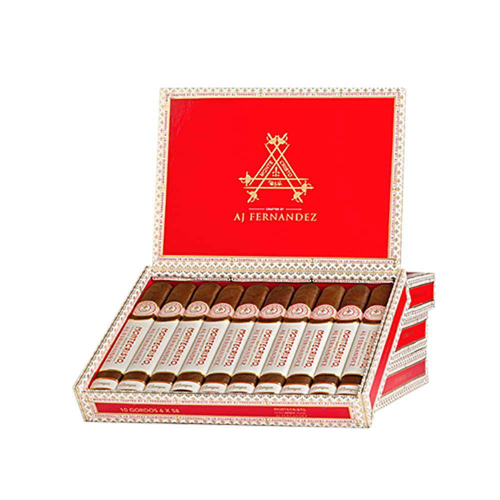 Montecristo Crafted By A.J Fernandez Robusto Cigars - Dark Box of 10